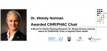 Dr. Wendy Norman receives award for CIHR/PHAC Chair in Applied Public Health
